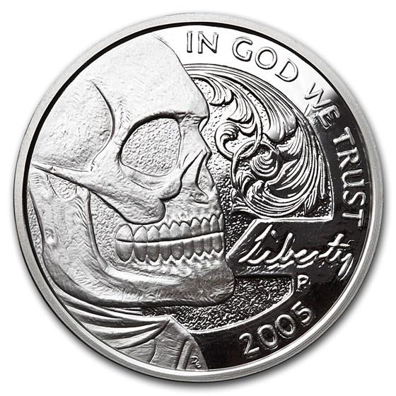 1 oz Silver Proof Round - Hobo Nickel (Jefferson Skull)