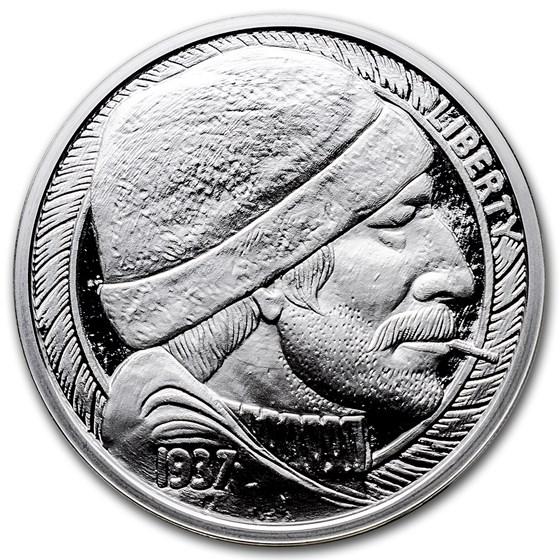 1 oz Silver Proof Round - Hobo Nickel Replica (The Fisherman)