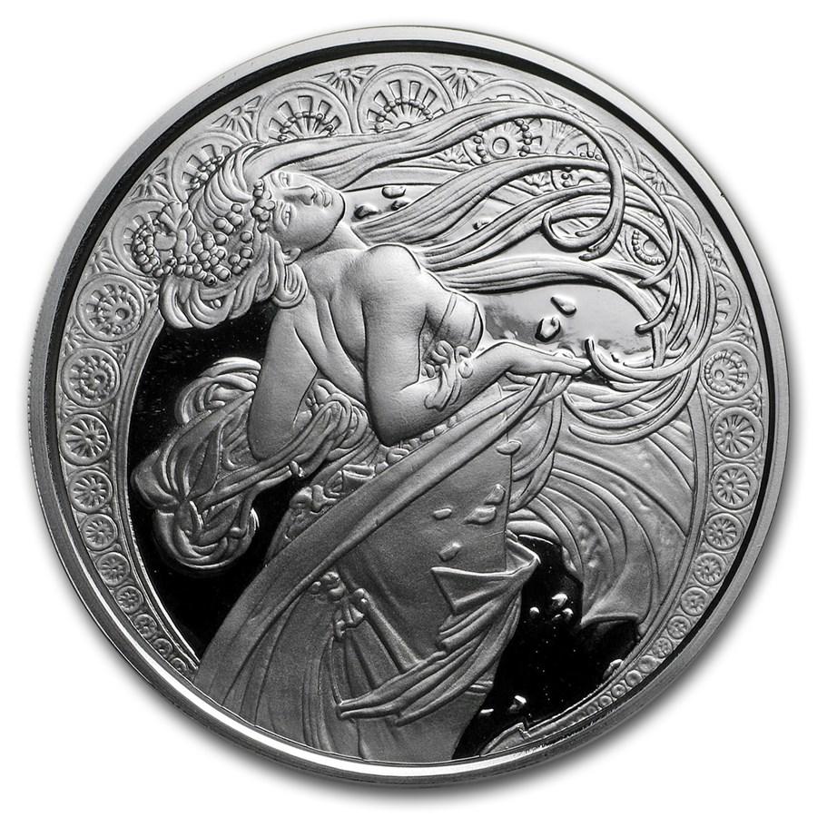 1 oz Silver Proof Round - Mucha Series (Dance)