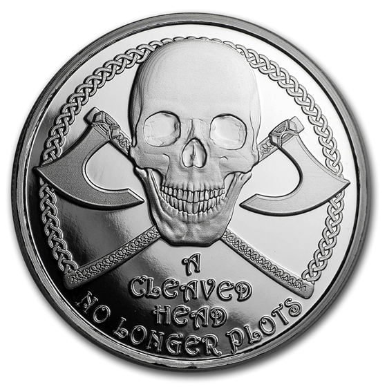 1 oz Silver Proof Round - Viking Proverbs Series: Cleaved Head