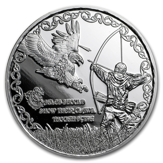 1 oz Silver Proof Round - Viking Proverbs Series: Eagle's Claws
