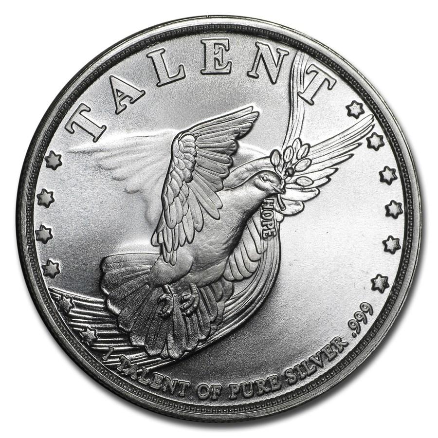 1 oz Silver Round - 1 Talent (Dove)