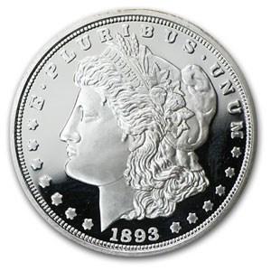 1 oz Silver Round - 1893-O Morgan Dollar Proof (Replica)