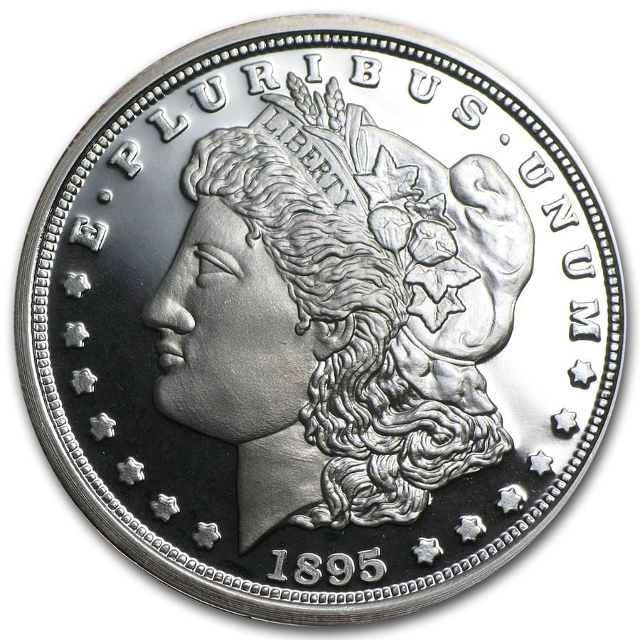 1 oz Silver Round - 1895 Morgan Dollar Proof (Replica)