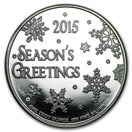 1 oz Silver Round - 2015 Merry Christmas Santa