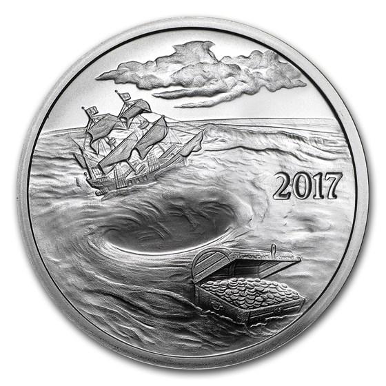1 oz Silver Round - 2017 Silverbug Island Whirlpool (BU)