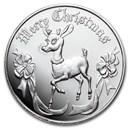 1 oz Silver Round - 2020 Reindeer