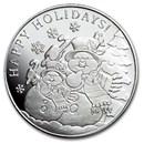 1 oz Silver Round - 2020 Snowman