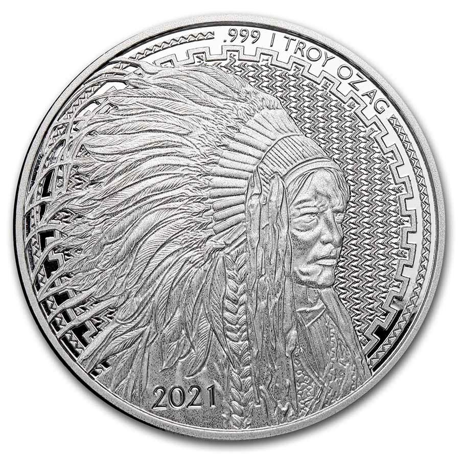 1 oz Silver Round - 2021 Liberty Trade Buffalo