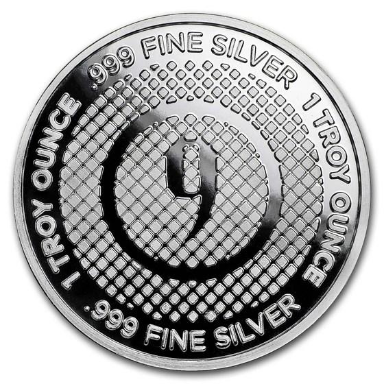 1 oz Silver Round - 9Fine Mint (Diamond Pattern)