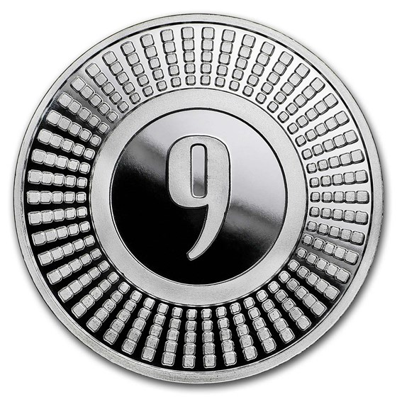 1 oz Silver Round - 9Fine Mint (Radial)