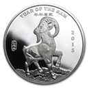 1 oz Silver Round - APMEX (2015 Year of the Ram)