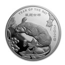 1 oz Silver Round - APMEX (2020 Year of the Rat)
