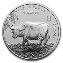 1 oz Silver Round - APMEX (2021 Year of the Ox)