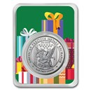 1 oz Silver Round - APMEX (Christmas Presents Green Card, In TEP)