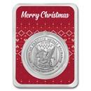 1 oz Silver Round - APMEX (w/Christmas Sweater Card, In TEP)