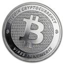 1 oz Silver Round - Bitcoin