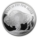 1 oz Silver Round - Buffalo (Mint Mark SI™)