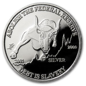 1 oz Silver Round - Bull Variety (2009)