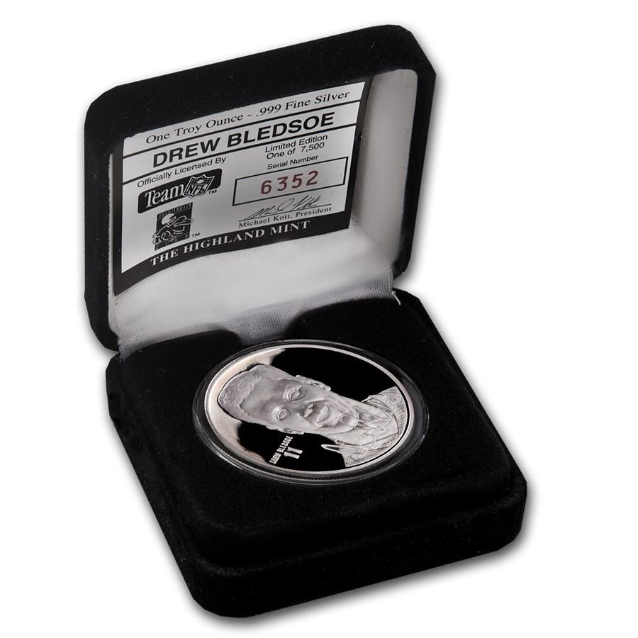 1 oz Silver Round - Drew Bledsoe