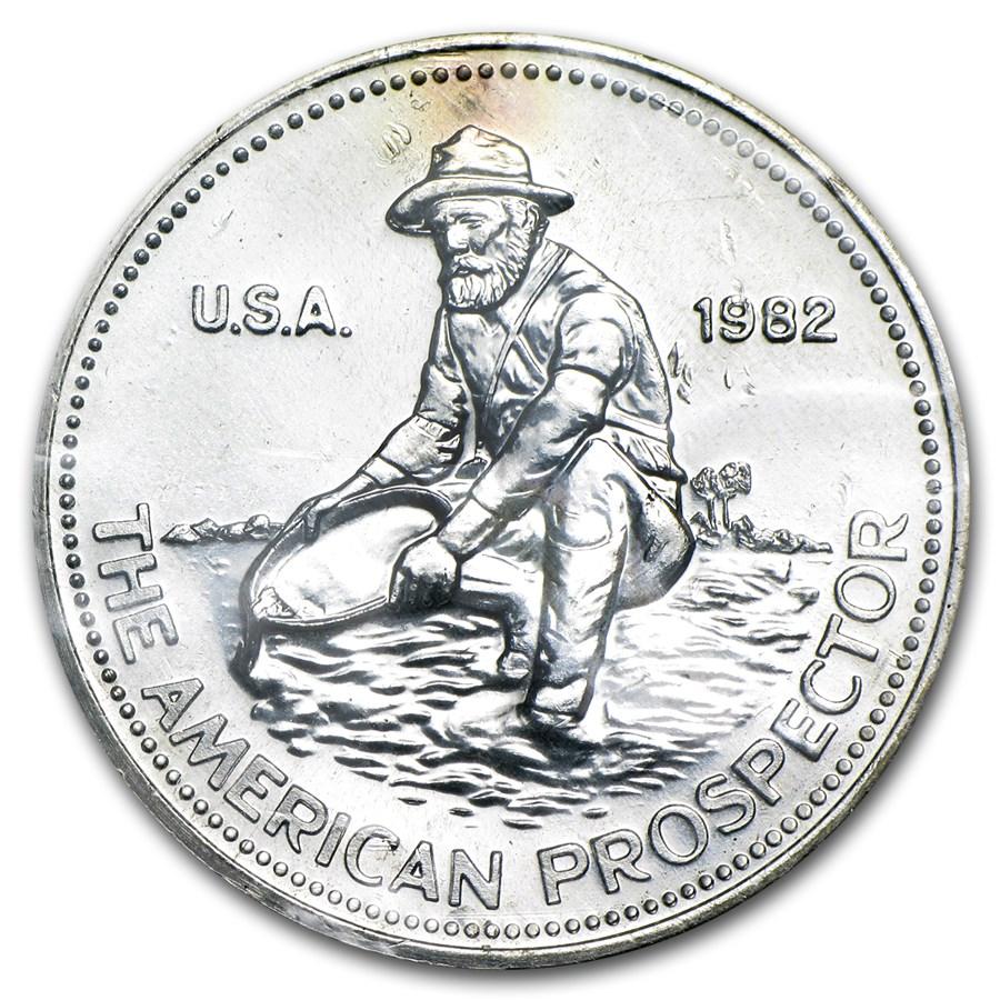 1 oz Silver Round - Engelhard Prospector (Sealed, Toning)