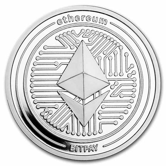1 oz Silver Round - Ethereum