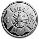 1 oz Silver Round - Firefighter's with Prayer Reverse