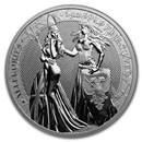 1 oz Silver Round - Germania Allegories 2019 BU (Britannia)