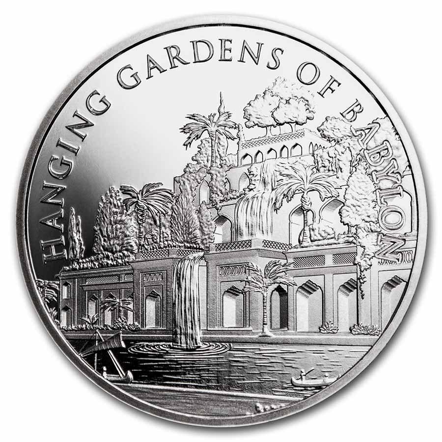 1 oz Silver Round - Hanging Gardens of Babylon (w/Gift Box Tin)