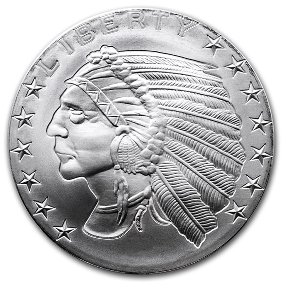 1 oz Silver Round - Incuse Indian