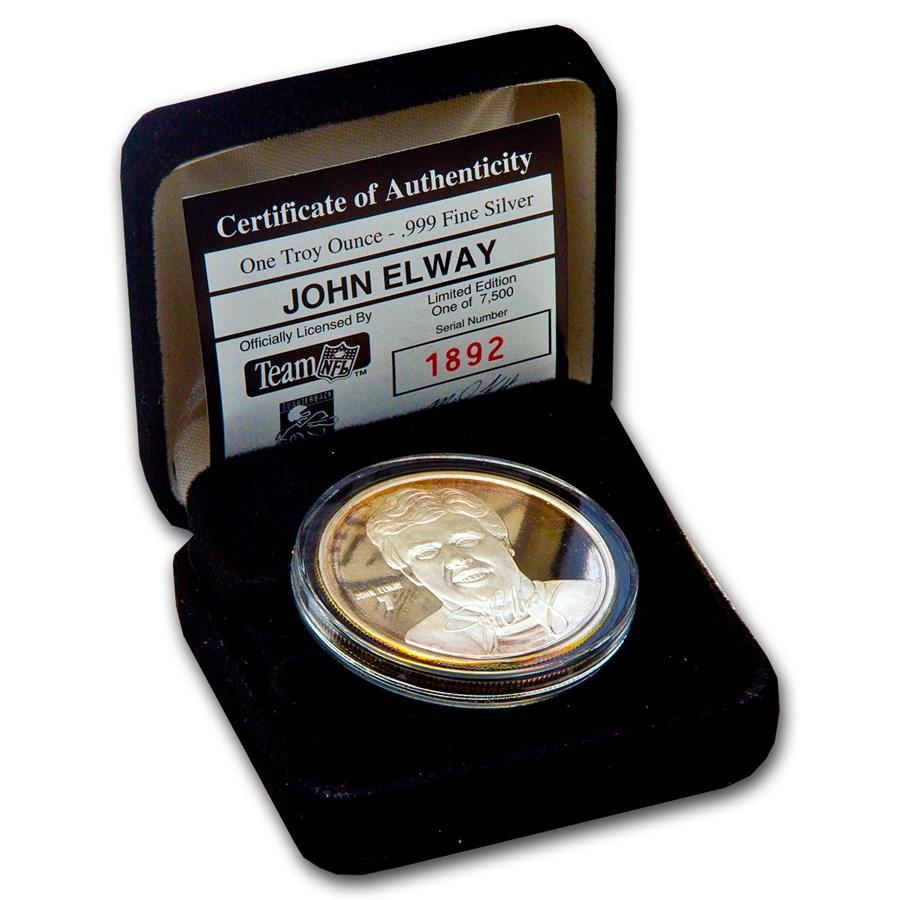 1 oz Silver Round - John Elway
