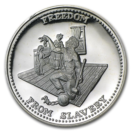 1 oz Silver Round - Johnson Matthey (Freedom from Slavery)