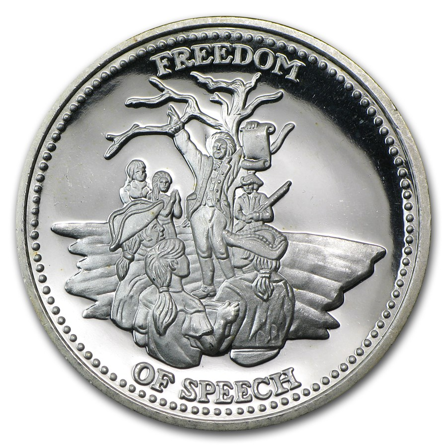 1 oz Silver Round - Johnson Matthey (Freedom of Speech)