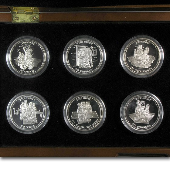1 oz Silver Round - Johnson Matthey Freedom Series (Set w/Box)