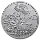 1 oz Silver Round - Kraken (Anonymous Mint)