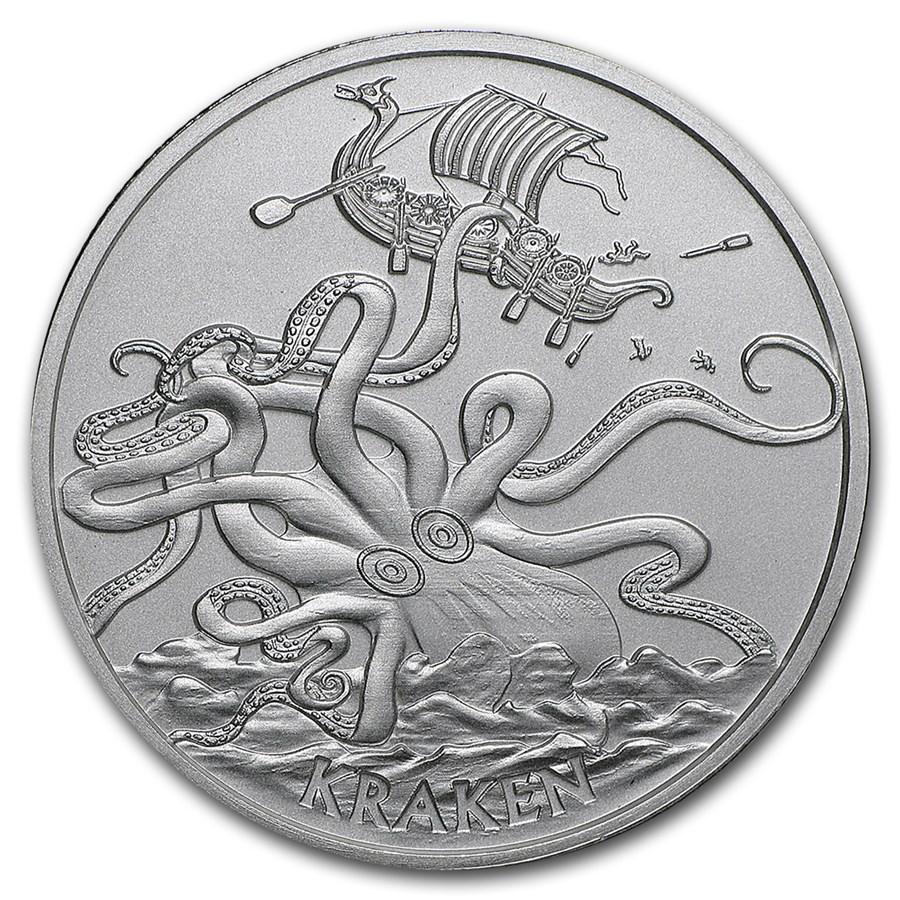 1 oz Silver Round - Kraken (Anonymous Mint)