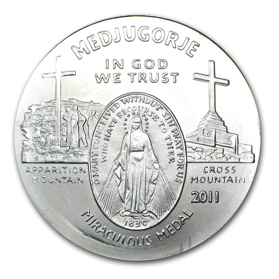 1 oz Silver Round - Medjugorjes (Miraculous Medal)