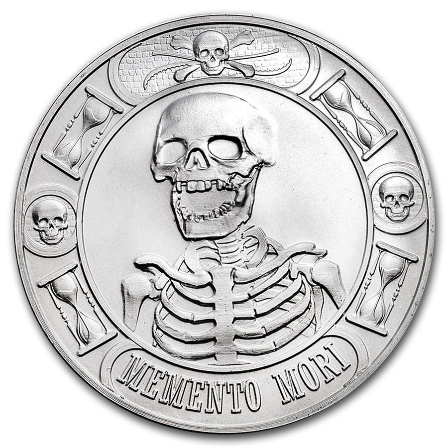 1 oz Silver Round - Memento Mori (Anonymous Mint)