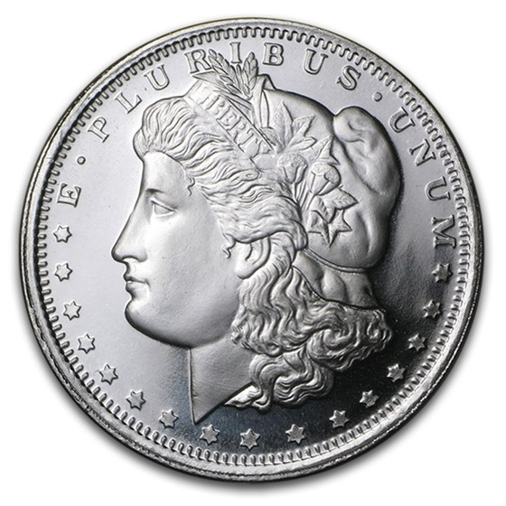 1 oz Silver Round - Morgan Dollar Design