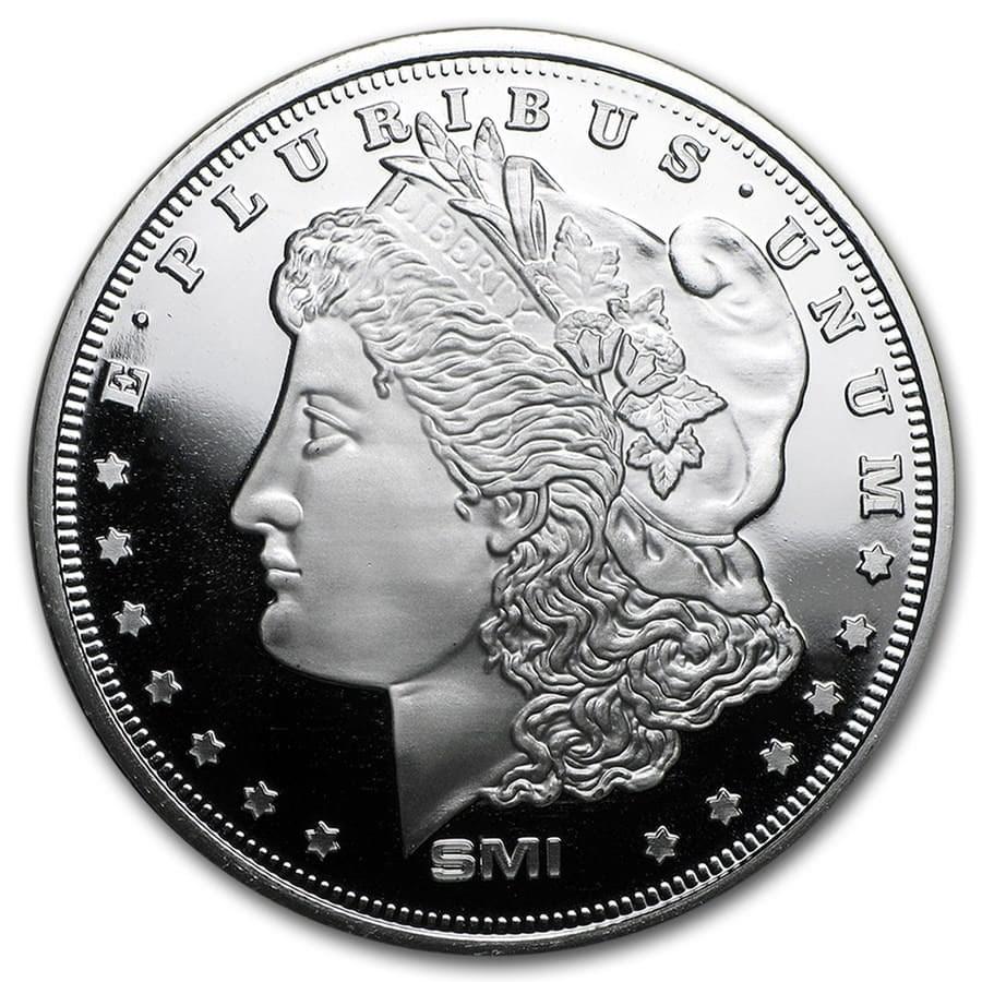 1 oz Silver Round - Morgan Dollar (Mint Mark SI)