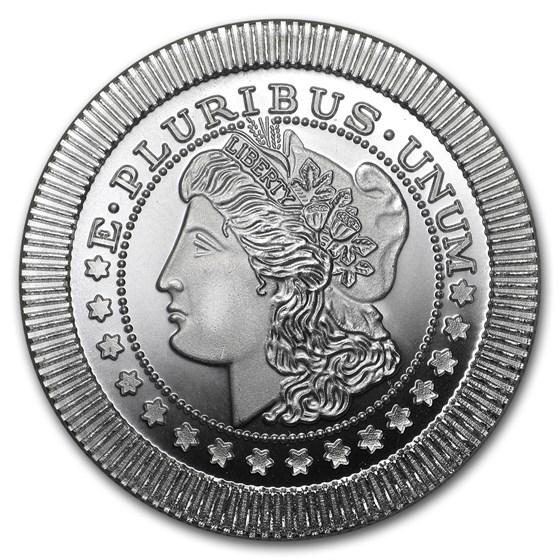 1 oz Silver Round - Morgan Dollar (Stackable)
