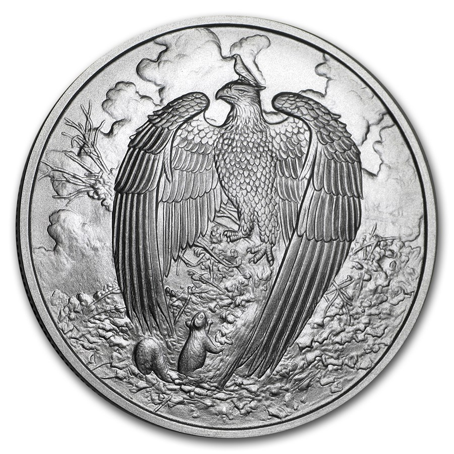 1 oz Silver Round - Nordic Creatures: The Great Eagle BU