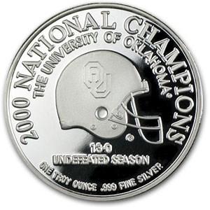 1 oz Silver Round - Oklahoma National Championship