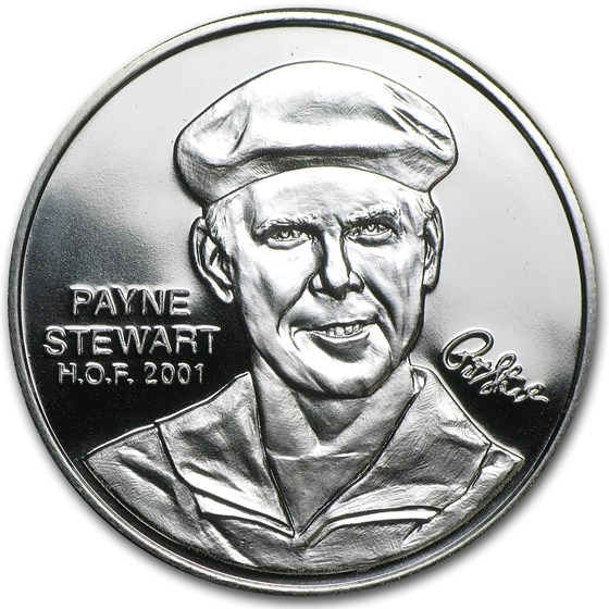 1 oz Silver Round - Payne Stewart Hall of Fame