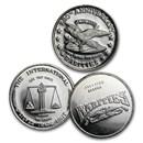 1 oz Silver Round - Rarities Mint (Random Motif)