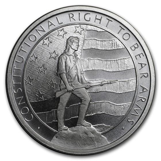 1 oz Silver Round - Second Amendment (Right to Bear Arms)