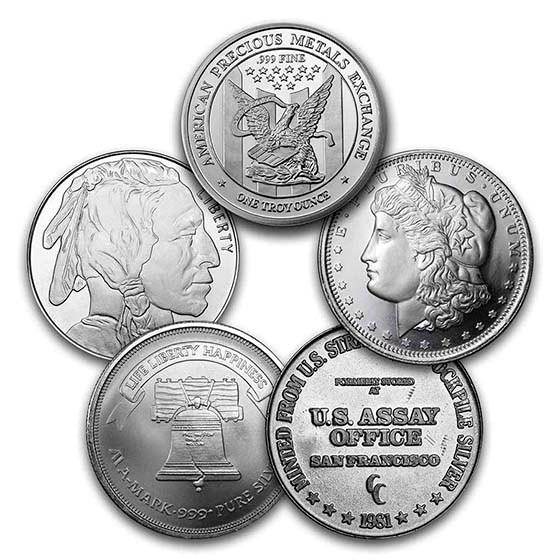 1 oz Silver Round - Secondary Market