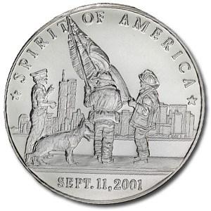 1 oz Silver Round - Spirit of America (Sept. 11, 2001)