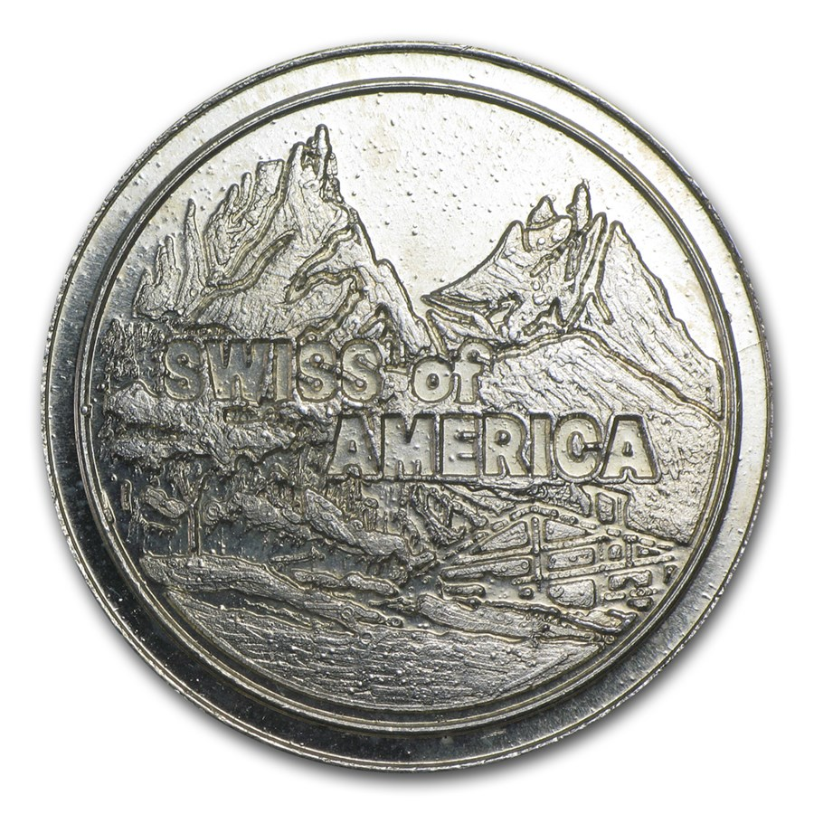 1 oz Silver Round - Swiss of America