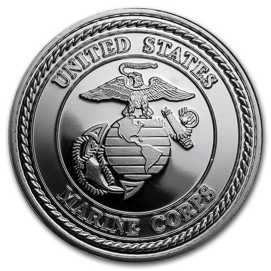 1 oz Silver Round - U.S. Marines